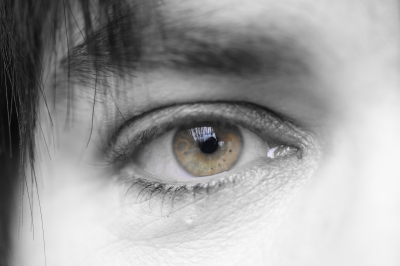 Ein Foto von einem Auge