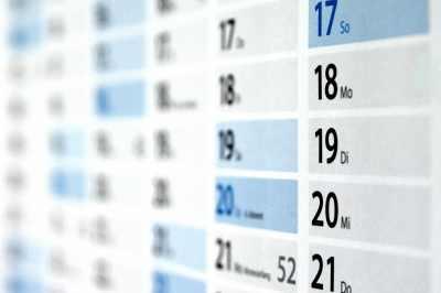 Eine Abbildung eines Wandkalenders